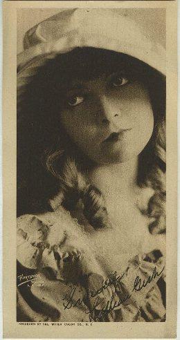 Lillian Gish 1916 Water Color Co Paper Premium Photo