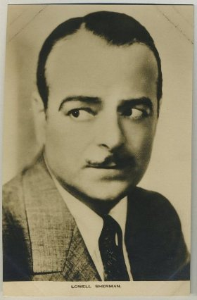 Lowell Sherman 1930s Film Weekly Postcard