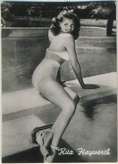 Rita Hayworth Promotional Card