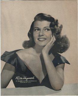 Rita Hayworth 1940s Paper Premium Photo