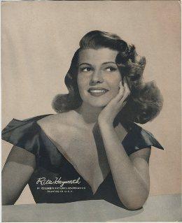 Rita Hayworth 1940s Paper Premium Photo