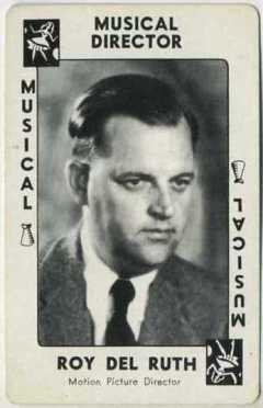 Roy Del Ruth 1938 Movie Millions Game Card