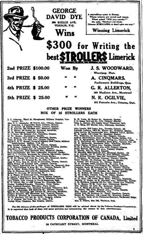 Strollers Movie Limerick Contest March 16 ad