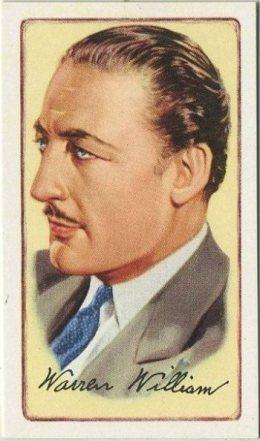 Warren William 1935 Gallaher Tobacco Card