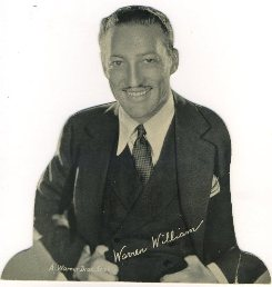 Warren William 1930s Quaker Oats Standee