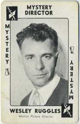 Wesley Ruggles 1938 Movie Millions Game Card