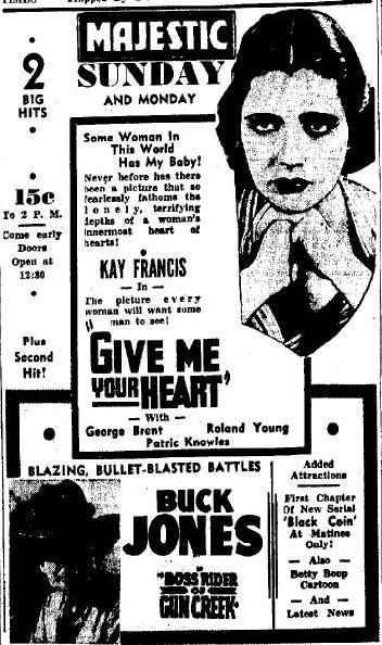 Give Me Your Heart newspaper ad