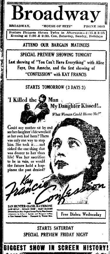 Confession newspaper ad