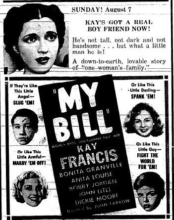 My Bill newspaper ad