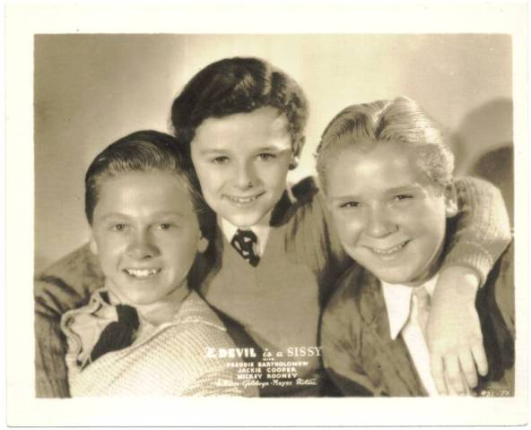 Mickey Rooney, Freddie Bartholomew and Jackie Cooper in The Devil Is a Sissy