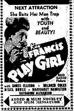 Play Girl newspaper ad