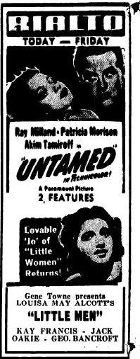 Little Men newspaper ad