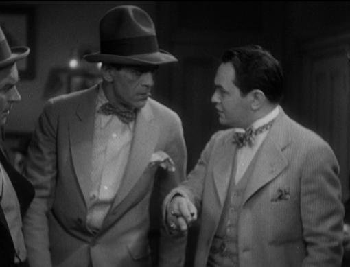 Boris Karloff and Edward G. Robinson