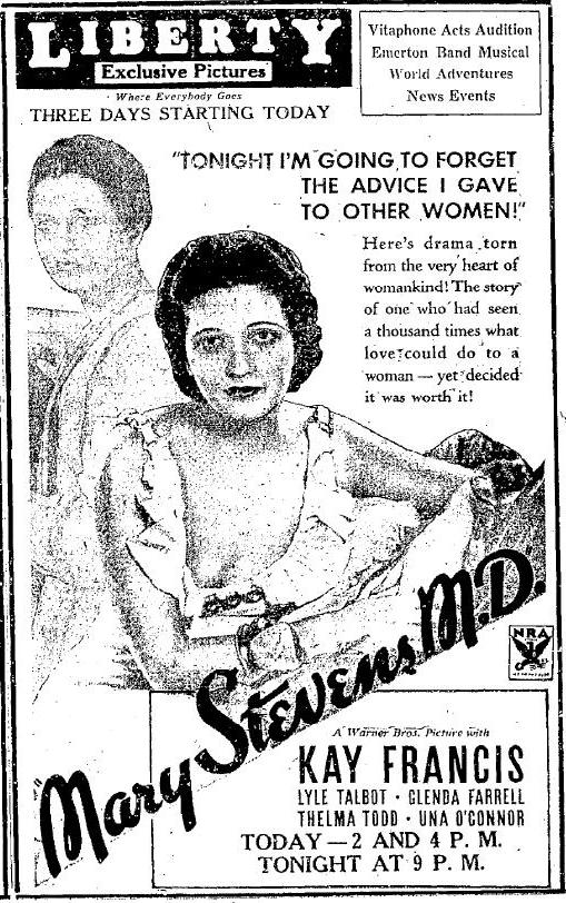 Mary Stevens MD newspaper ad