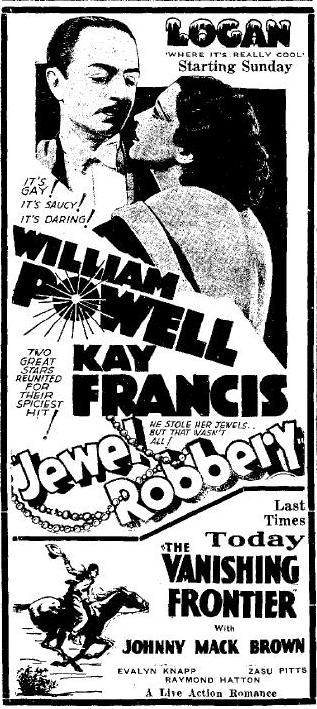 Jewel Robbery newspaper ad