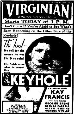 The Keyhole newspaper ad