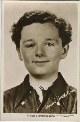 Freddie Bartholomew vintage 1930s postcard
