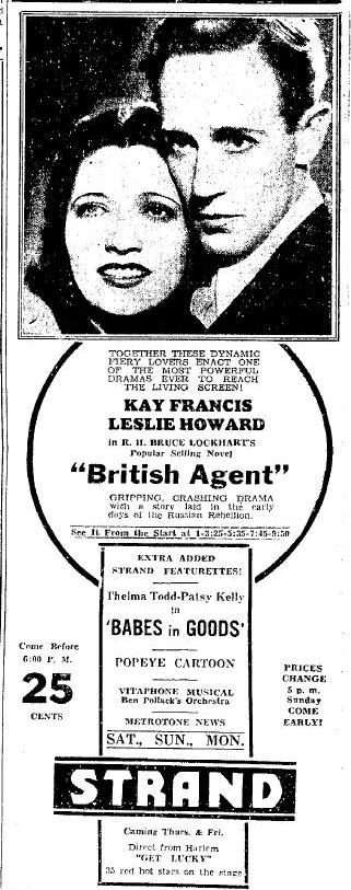 British Agent newspaper ad