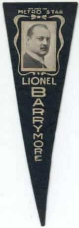 Lionel Barrymore 1915 felt pennant