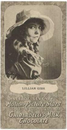 Lillian Gish 1920s Ghirardellis Trading Card