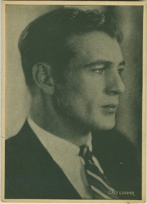 Gary Cooper 1920s 5x7 Large Trading Card