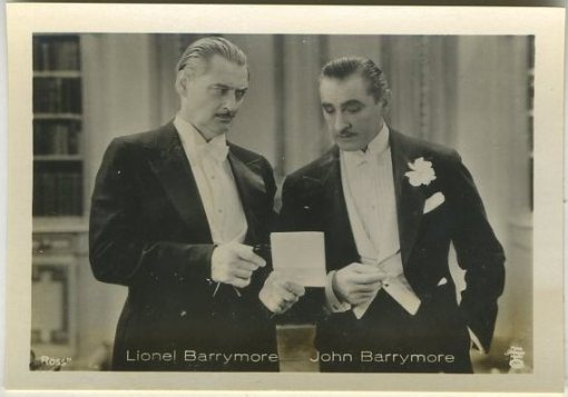 John and Lionel Barrymore 1930s A Batschari German Tobacco Card