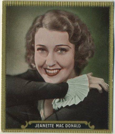 Jeanettte MacDonald 1930s Haus Bergmann Tobacco Card