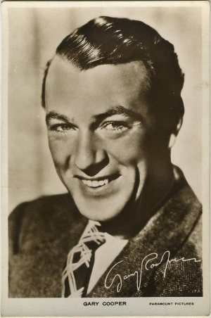 Gary Cooper 1930s Real Photo Postcard