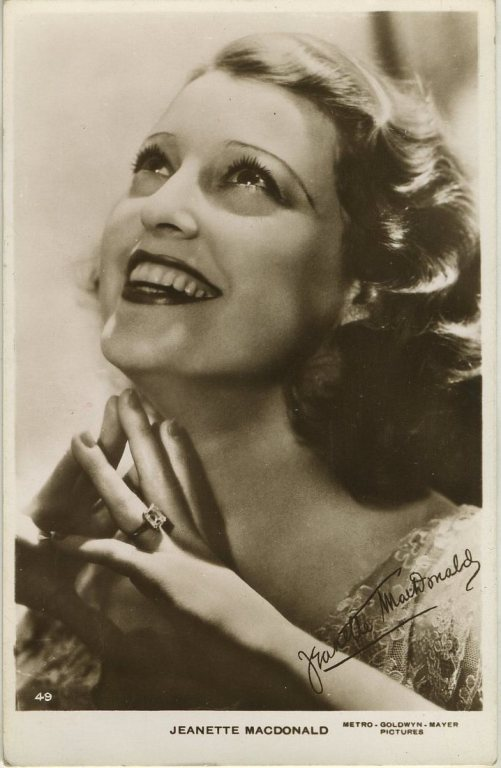 Jeanette MacDonald 1930s Real Photo Postcard