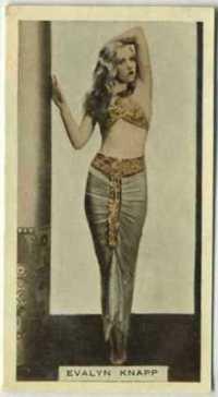 Evalyn Knapp 1933 Godfrey Phillips tobacco card