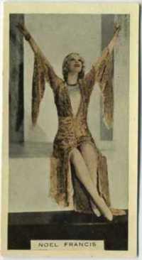 Noel Francis 1933 Godfrey Phillips tobacco card
