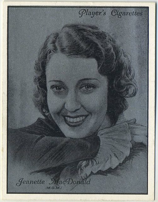 Jeanette MacDonald 1934 Player Film Stars Tobacco Card