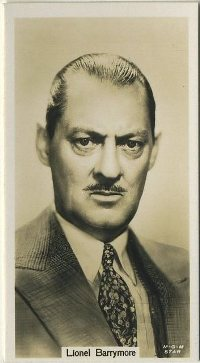 Lionel Barrymore 1934 John Sinclair tobacco card