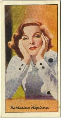Katharine Hepburn 1935 Carreras Tobacco Card