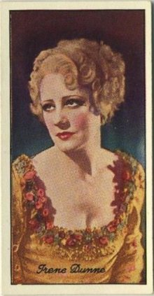 Irene Dunne 1935 Carreras Film Stars Tobacco Card