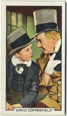 Freddie Bartholomew and WC Fields 1935 Gallaher Tobacco Card