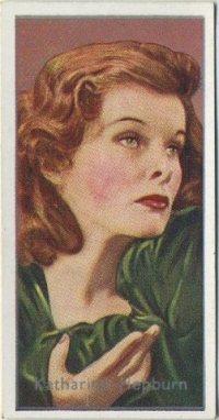 Katharine Hepburn 1936 Carreras Tobacco Card