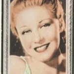 Ginger Rogers 1936 Godfrey Phillips tobacco card