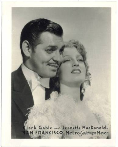 Clark Gable and Jeanette MacDonald 1936 MGM Watkins Promotional Photo