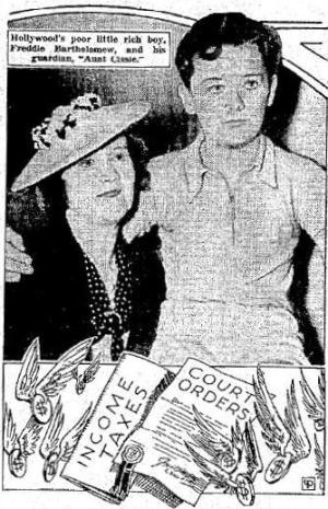 Freddie Bartholomew and Aunt Cissy, 1937