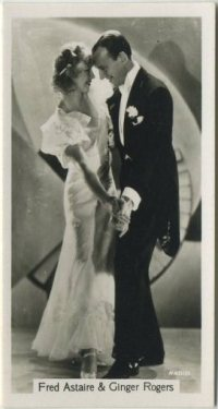 Fred Astaire and Ginger Rogers 1937 Sinclair Tobacco Card