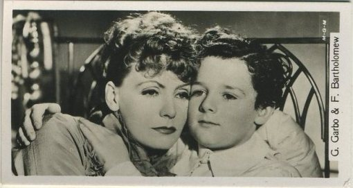 Greta Garbo and Freddie Bartholomew 1937 Sinclair Tobacco Card