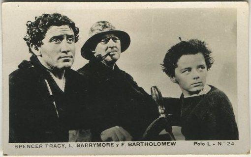 Spencer Tracy Lionel Barrymore Freddie Bartholomew tobacco card