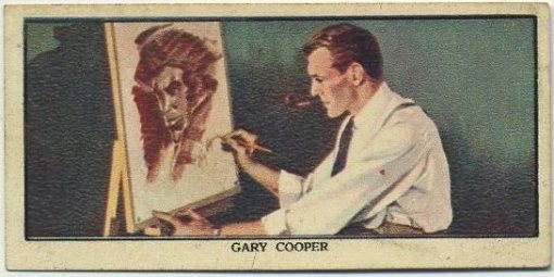 Gary Cooper 1939 Mars Confections Trading Card