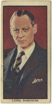 Lionel Barrymore 1939 Mars Confections Trading Card