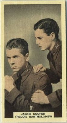 Jackie Cooper and Freddie Bartholomew 1939 A and M Wix Tobacco Card