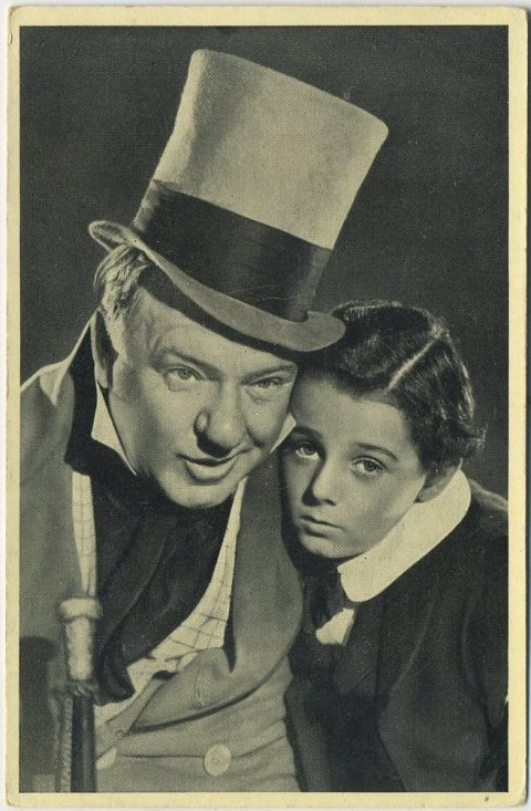 WC Fields and Freddie Bartholomew 1940 Cinema Cavalcade Tobacco Card