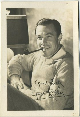 Gene Kelly 1940s era fan photo