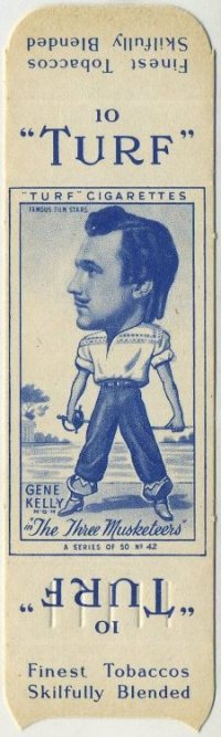 Gene Kelly 1949 Turf tobacco card