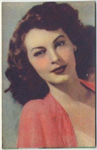 Ava Gardner 1951 Artisti del Cinema Trading Card